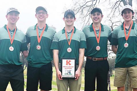 Golfers take first at Kemp event