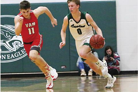 Eagles clinch district on half court heave