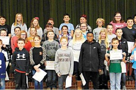 FIFTH GRADE HONOR ROLL RELEASED